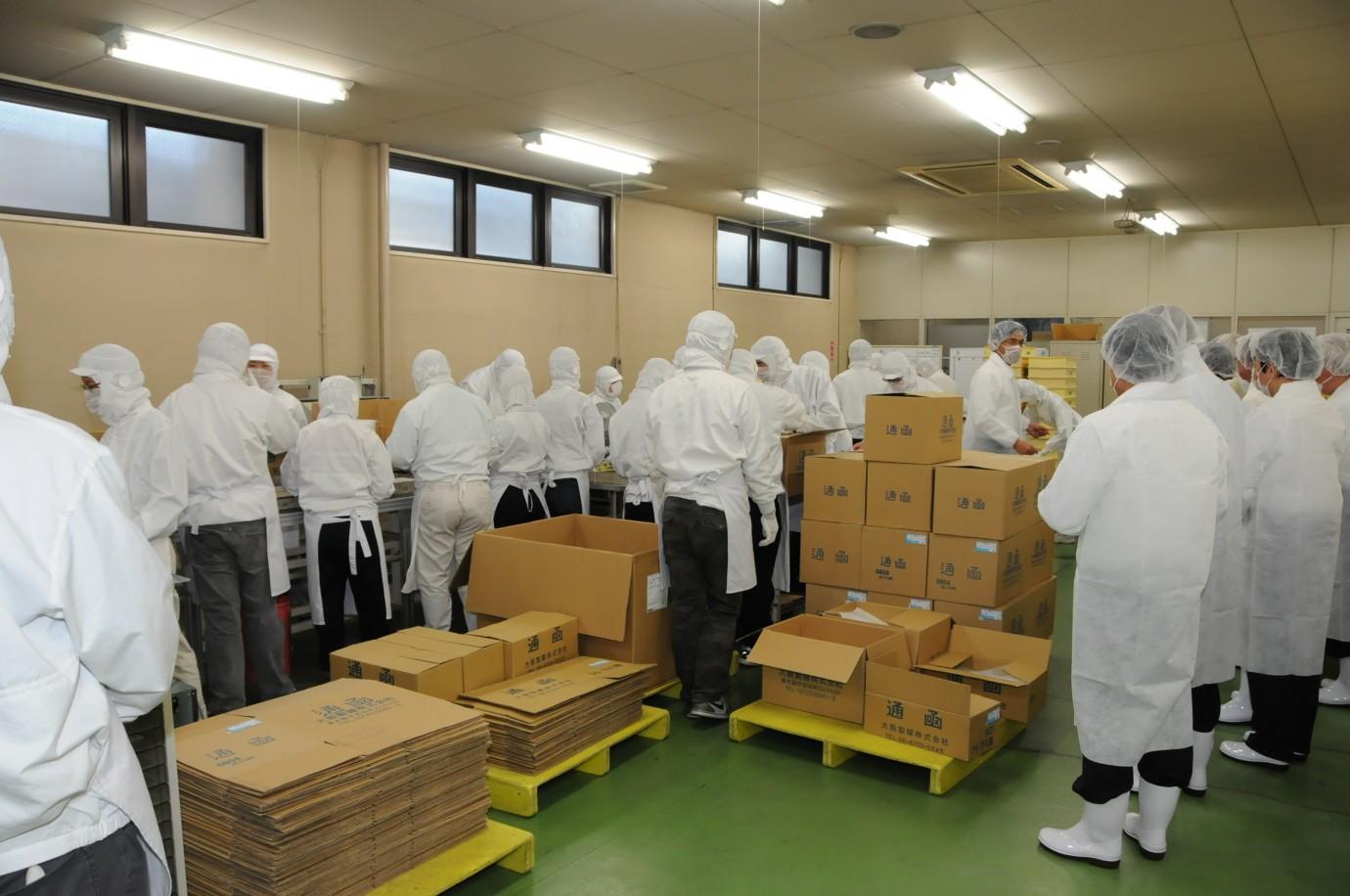 ゴンチャロフ製菓へ職場訪問
